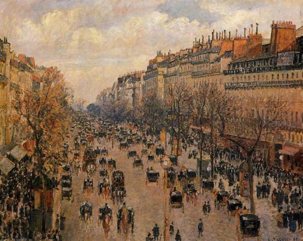 Boulevard Montmartre afternoon sunlight 1897