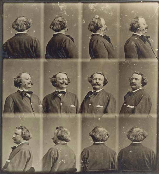 Felix Nadar http://petapixel.com/2012/04/17/a-revolving-self-portrait-created-in-1865/