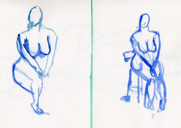 Quick drawings - sitting pose